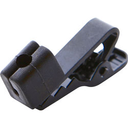 Point Source Audio Cable Clip for Lavalier Microphone (Black)