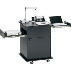 Elmo ECART12iD-80 Classroom Cart with Document Camera, Wireless Slate / Tablet, Switcher, and Projector