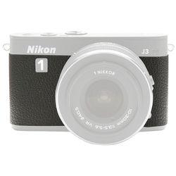 Japan Hobby Tool Camera Leather Decoration Sticker for Nikon 1 J3 Mirrorless Camera (4308 Black)