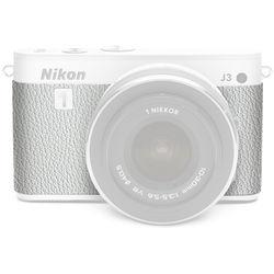 Japan Hobby Tool Camera Leather Decoration Sticker for Nikon 1 J3 Mirrorless Camera (4308 White)