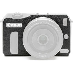 Japan Hobby Tool Camera Leather Decoration Sticker for Canon EOS M Mirrorless Camera (4008 Black)