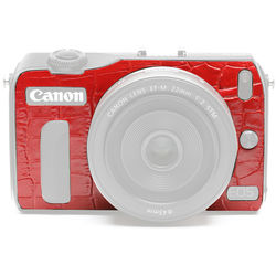 Japan Hobby Tool Camera Leather Decoration Sticker for Canon EOS M Mirrorless Camera (Crocodile Red)