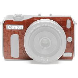 Japan Hobby Tool Camera Leather Decoration Sticker for Canon EOS M Mirrorless Camera (Crocodile Brown)
