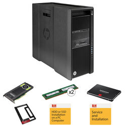 HP Z840 K7P08UT Turnkey Workstation with 512GB SSD, 32GB RAM, and HP Quadro M4000