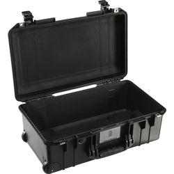 Pelican 1535AirNF Wheeled Carry-On Case (Black, No Foam/Empty)