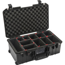 Pelican 1535 AirTP Wheeled Carry-On Case (Black, with TrekPak Insert)