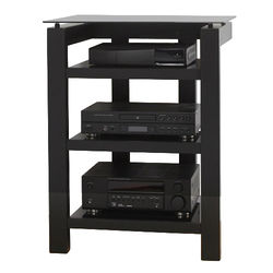 PLATEAU SL-4A TV Stand with Black Glass