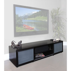 PLATEAU SR-V 75 TV Stand (Espresso Finish, Black Door Frames)