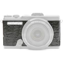 Japan Hobby Tool Camera Leather Decoration Sticker for Olympus Stylus XZ-2 Digital Camera (Crocodile Black)