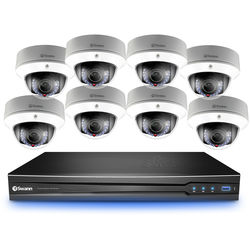 Swann 8-Channel 3MP NVR with 2TB HDD and 8 3MP Outdoor Dome Cameras