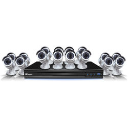 Swann 24-Channel 3MP NVR with 4TB HDD and 16 3MP Outdoor Bullet Cameras