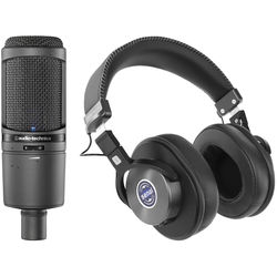 Audio-Technica AT2020USBi USB Microphone & SMH-1200 Headphones Kit (Onyx)