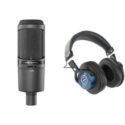 Audio-Technica AT2020USBi USB Microphone & SMH-1200 Headphones Kit (Nautical Blue)