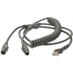 Honeywell Keyboard Wedge Coiled PS2 9.8' Cable (black)