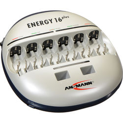 Ansmann ENERGY 16 PLUS Charger for AAA, AA, C, D and 9V E NiMH or NiCd Batteries