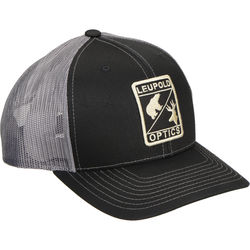 Leupold Trucker Hat (Black/Charcoal, One-Size)