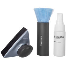 ColorWay Premium Cleaning Liquid, Brush, & Microfiber Cleaner with Stand Kit for Screens (1 fl oz)