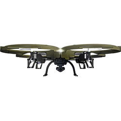 Kolibri U818A Discovery Delta-Recon Tactical Edition Wi-Fi Quadcopter with 720p HD Camera (Military Matte Green)