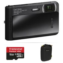 Sony Cyber-shot DSC-TX30 Digital Camera Basic Kit (Black)