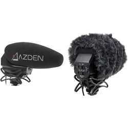 Azden SMX-30 Stereo/Mono Switchable Video Mic & Furry Windshield Cover Kit