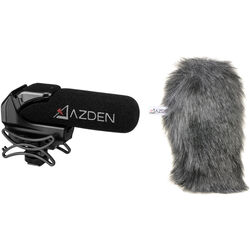 Azden SMX-15 Shotgun Video Mic and Furry Windshield Cover Kit