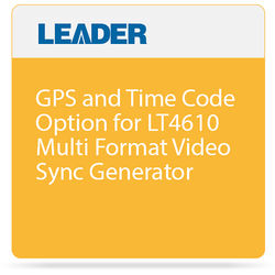 Leader GPS and Time Code Option for LT4610 Multi Format Video Sync Generator