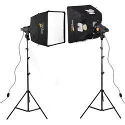 Impact Qualite 300 Focusing Flood 2 Light Soft Kit (120VAC)