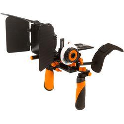 Ivation Rig System for DSLR or Video Camera (Orange)