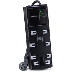 CyberPower CSB808 8-Outlet Essential Series Surge Protector (Black)