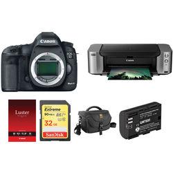Canon EOS 5D Mark III DSLR Camera and PIXMA PRO-100 Printer Kit