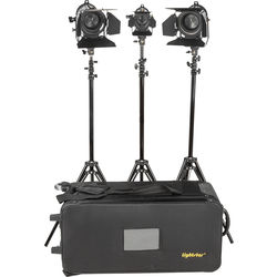 ikan Lightstar 3-Point Tungsten Fresnel Light Kit with One 150W and Two 300W
