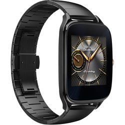 """ASUS ZenWatch 2 1.63"""" Smartwatch with HyperCharge (Gunmetal Case, Gray Metal Band)"""