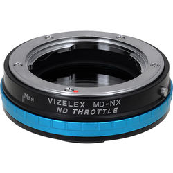 FotodioX Vizelex ND Throttle Minolta MD/MC/SR Rokkor Lens to Samsung NX Camera Lens Mount Adapter with Built-in Variable ND Filter