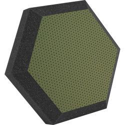 "Ultimate Acoustics UA-HX-12KW Hex Series Hexagon Foam Wall Panel 12"" Charcoal (Pair, Kiwi Vinyl)"