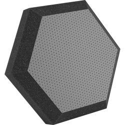 "Ultimate Acoustics UA-HX-12GR Hex Series Hexagon Foam Wall Panel 12"" Charcoal (Pair, Gray Vinyl)"