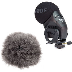 Rode Stereo VideoMic Pro with Auray Custom Windbuster Kit