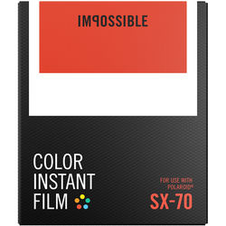 Impossible Color Instant Film for SX-70 (White Frame, 8 Exposures)