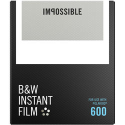 Impossible B&W Instant Film for 600 (White Frame, 8 Exposures)