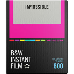 Impossible B&W Instant Film for 600 (Hard Color Frame, 8 Exposures)