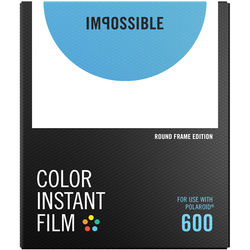 Impossible Color Instant Film for 600 (White Round Frame, 8 Exposures)