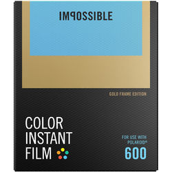Impossible Color Instant Film for 600 (Gold Frame, 8 Exposures)