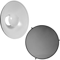 "Impact 16"" Beauty Dish Reflector with Honeycomb Grid Kit"