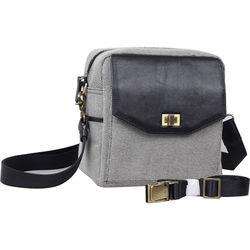 Jo Totes Granada Camera Bag (Black & White, Canvas & Leather)