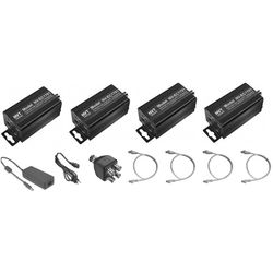 NVT EoC Ethernet over Coax Transceiver with PoE (4-Pack)
