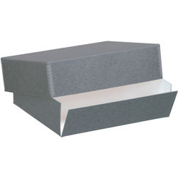 "Lineco Drop-Front Archival Box (17.5 x 22.5 x 3"", Blue/Gray)"