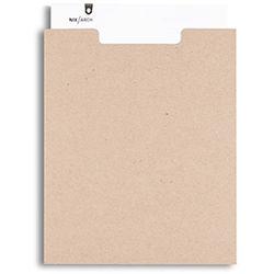 Pina Zangaro Open-Top Sleeves (25-Pack, Kraft Brown)