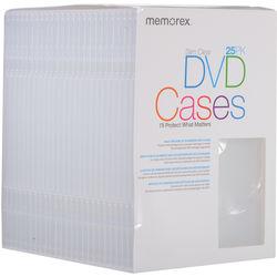 Memorex DVD Slim Cases (Clear, 25-Pack)