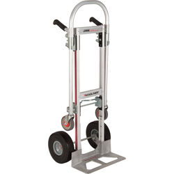 "Magliner Gemini Jr. Convertible Hand Truck with 10"" Microcellular Foam Wheels"