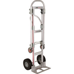 "Magliner Gemini Sr. Convertible Hand Truck with 10"" Microcellular Foam Wheels"