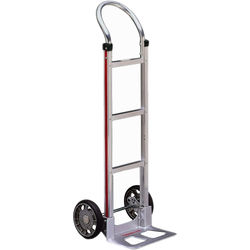 """Magliner HMA111AA1 Straight-Back Hand Truck with 8"""" Mold-On Rubber Wheels"""